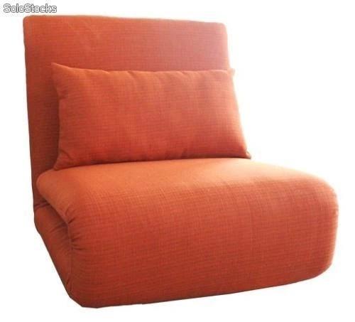Sillon cama naranja plegable barato