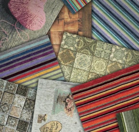 Stock tappeti nuovi ancora imballati e fodere per cuscini varie misure