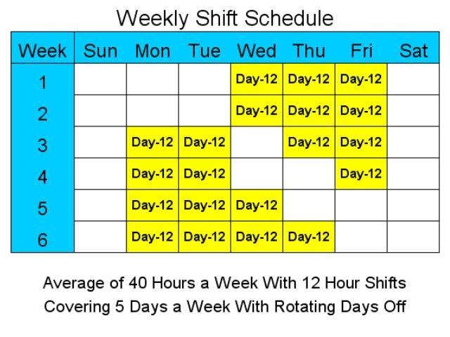 12 Hour Schedules for 5 Days a Week  standaloneinstallercom
