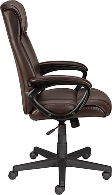 staples turcotte chair brown salon hair dryer all about luxura high back office www