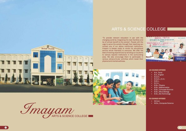 Imayam College Of Arts And Science Thuraiyur - Admissions