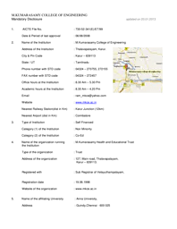 M. Kumarasamy College of Engineering [MKCE]- Admission