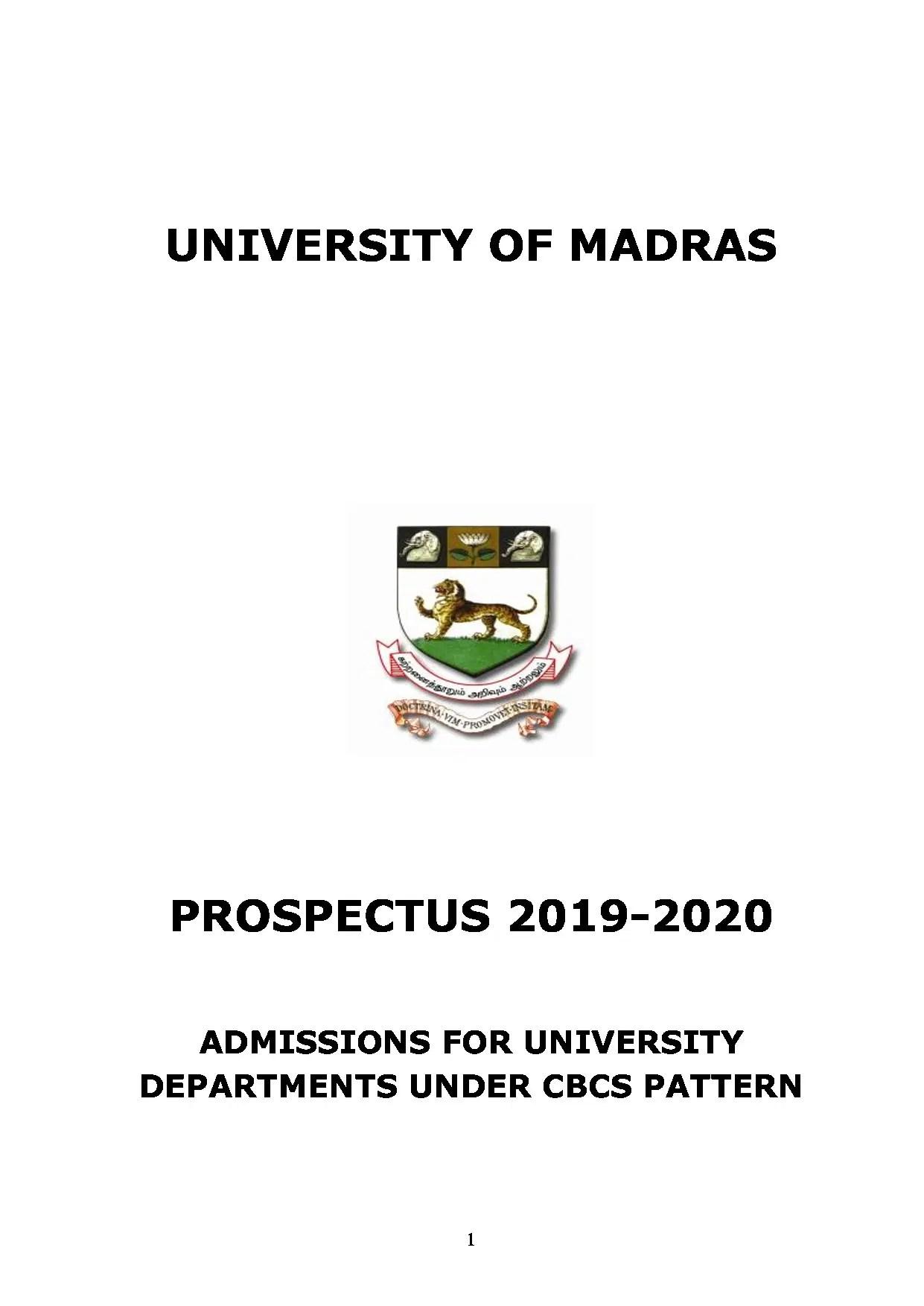 Madras University [University of Madras], Chennai