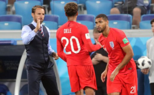 England's Ruben Loftus-Cheek (right) comes on for Dele Alli (centre) during the FIFA World Cup Group G match at The Volgograd Arena, Volgograd.