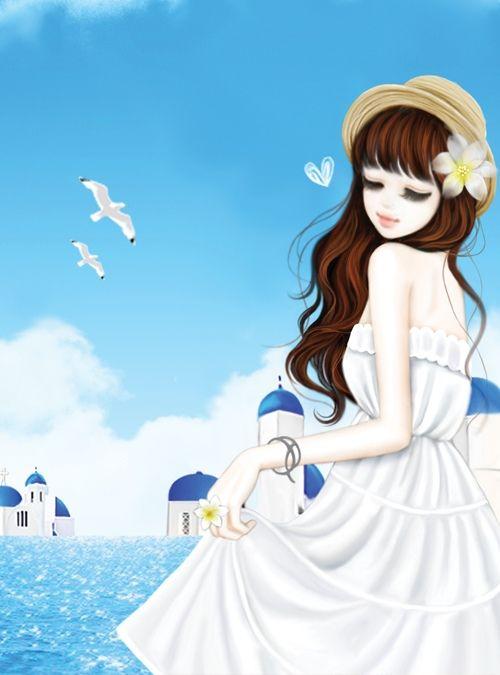 Cute Cartoon Girl Profile