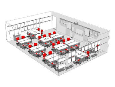 Verb Tables, Whiteboards, Instructor Lectern and Desk