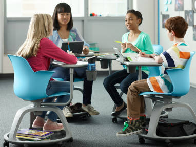 steelcase classroom chairs teal colored node desk furniture fit