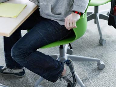 steelcase classroom chairs revolving chair fiber base node desk furniture northview high school