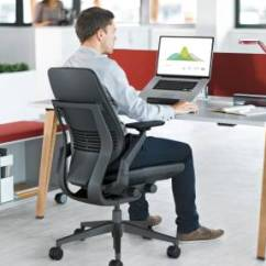 Steelcase Gesture Chair Table And Covers Ebay Ergonomic Office Desk Core Interface The