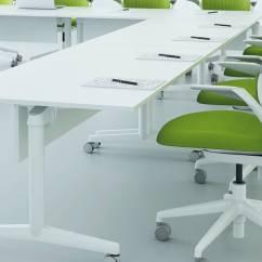 Desk Chair Casters Big W Fliptop Twin Meeting & Training Room Table - Steelcase