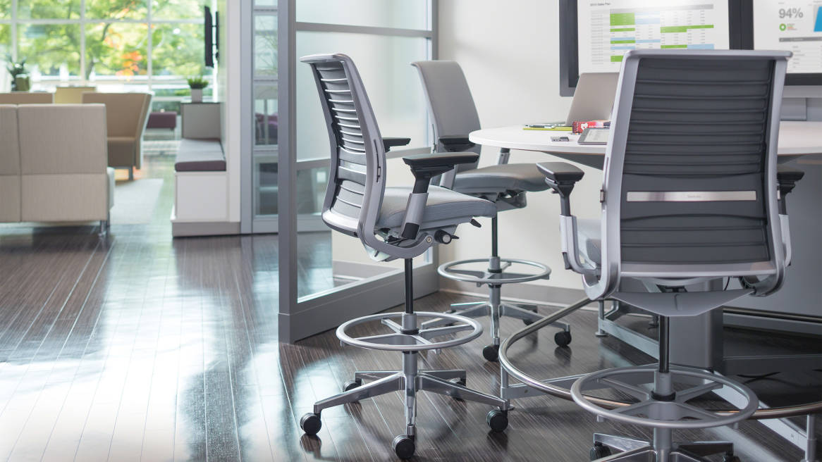 ergonomic chair data maternity rocking think adjustable office steelcase
