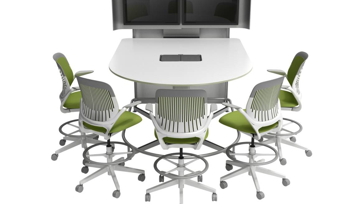 steelcase classroom chairs toddler bouncy chair stanford d school aids design thinking media scape collaboration technology