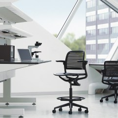Office Chair Review Brown Armless Cachet Chairs Guest Seating Steelcase
