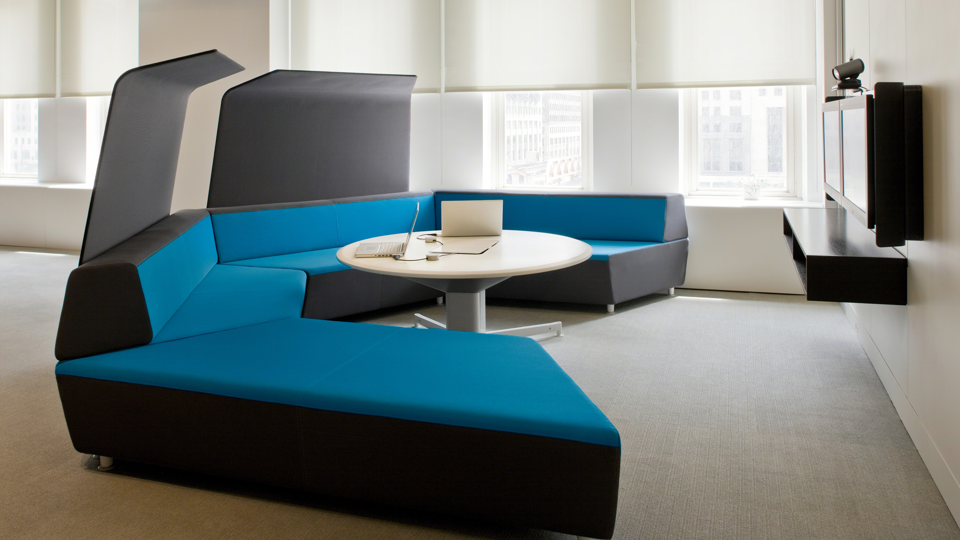 three sixty round sofa lounger most comfortable bed 2017 media scape lounge seating and office furnishings steelcase