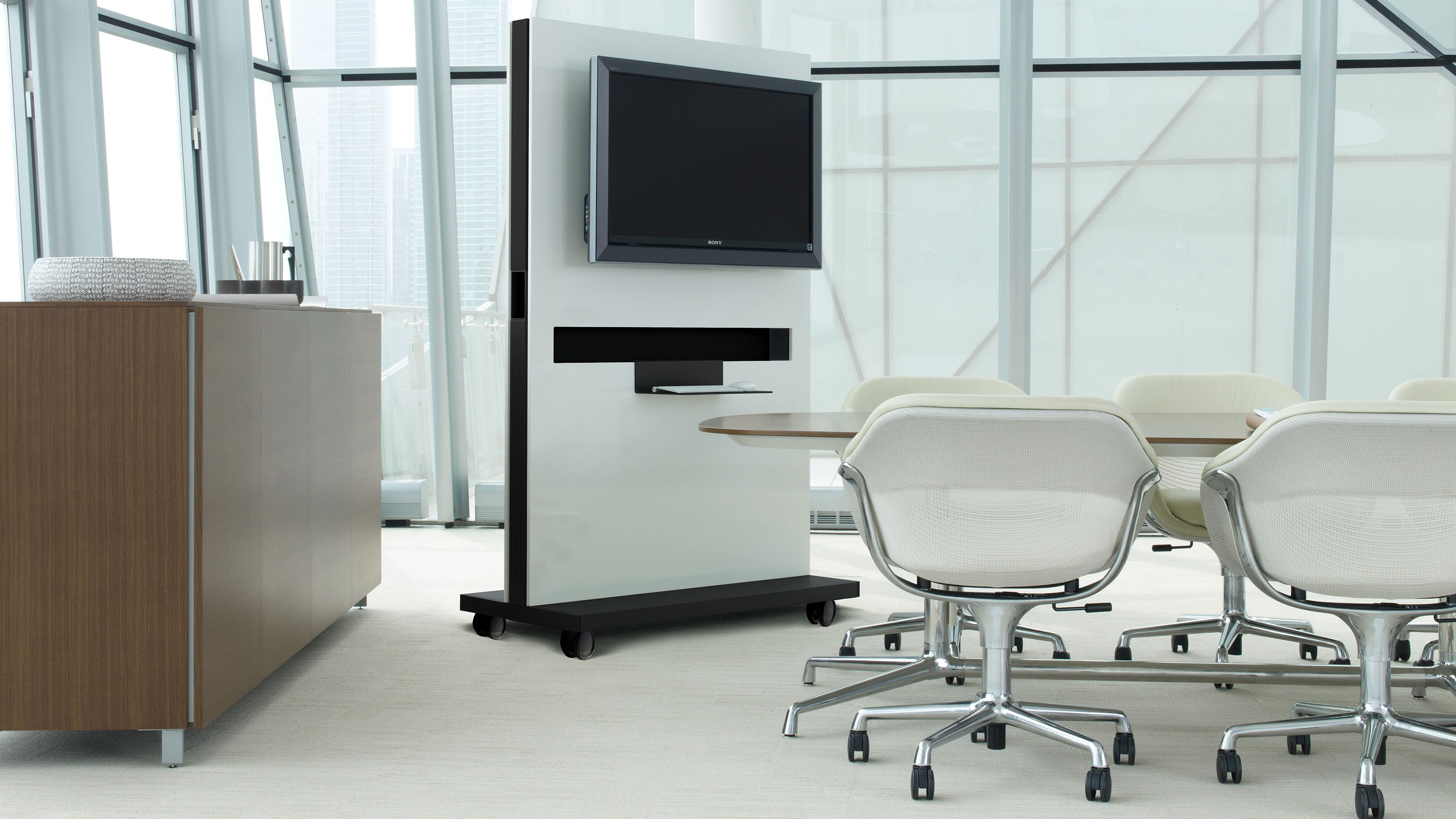 Coalesse Exponents White Board and Mobile Display  Steelcase