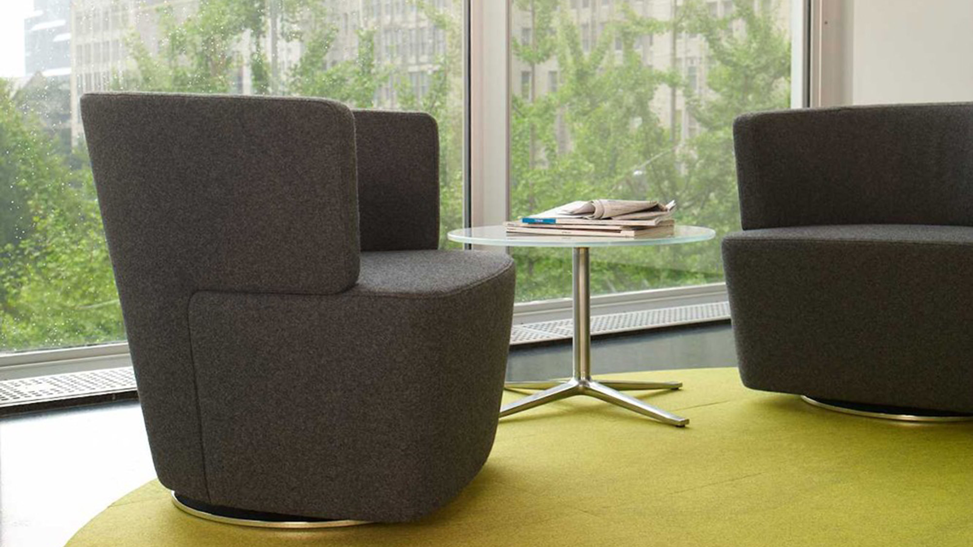 swivel lounge chairs wedding chair cover hire bromley joel from coalesse steelcase
