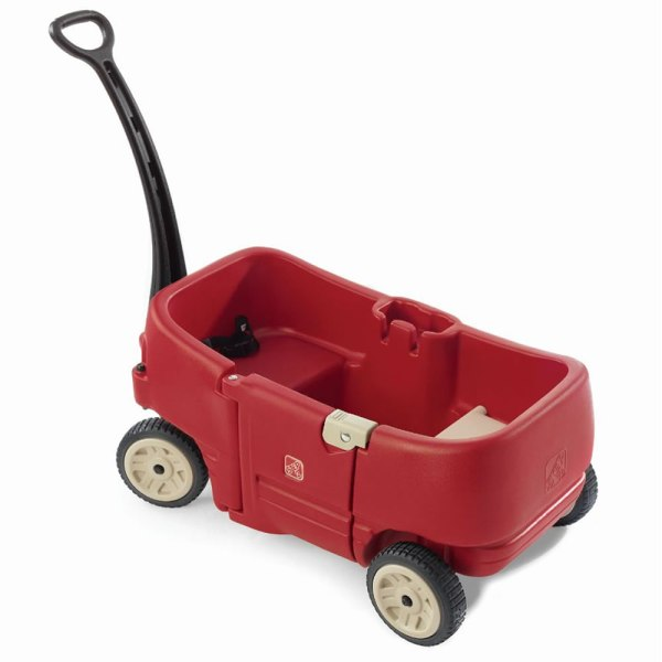 Step2 Wagon Two Red Toddler Baby Kid Beach Push