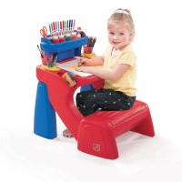 Step2 Write Desk Kids Drawing Table Bench Chair Childrens ...