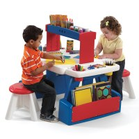 Step2 Creative Projects Table Red Blue Kids Art Desk ...