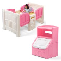 Girl's Loft & Storage Bedroom Set   Step2
