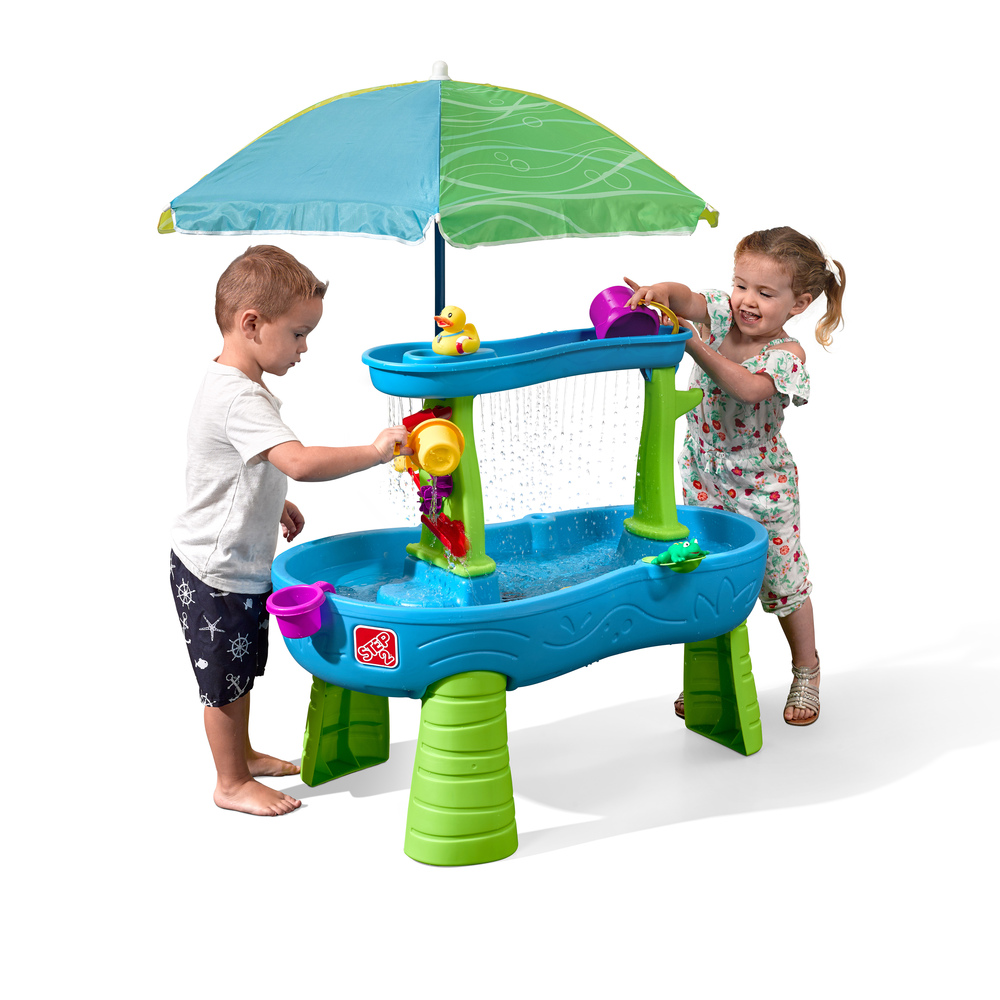 Rainy Day Water Table With Umbrella Kids Sand Water Play Step2