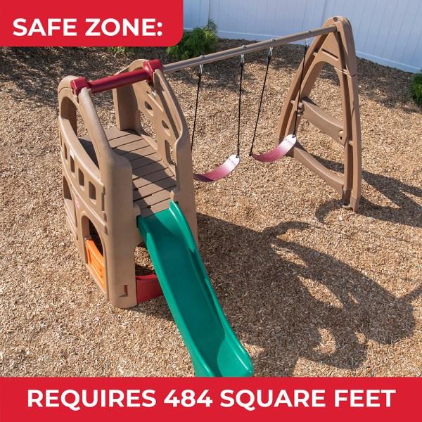 Naturally Playful Playhouse Climber & Swing Extension Step2