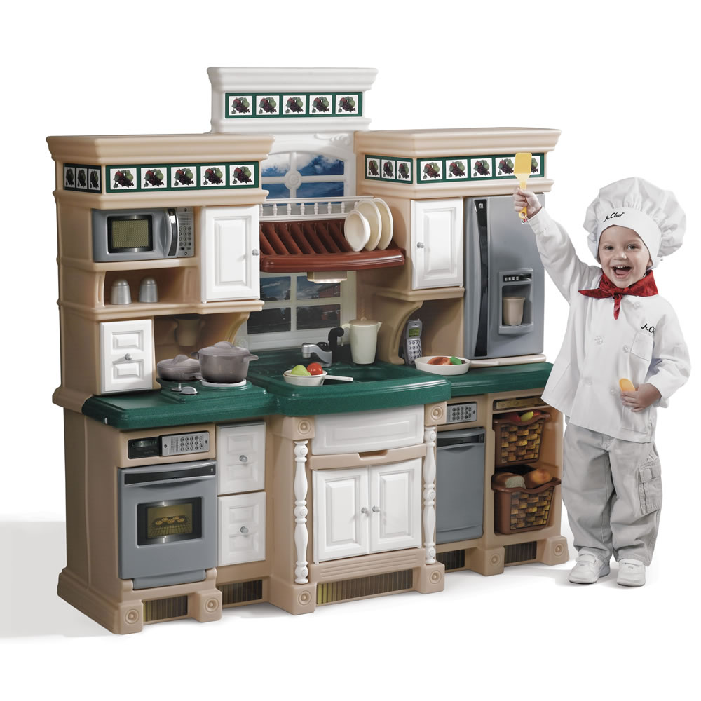 step 2 play kitchens rustic kitchen furniture lifestyle deluxe kids step2