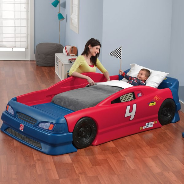 Stock Car Convertible Bed Kids Step2