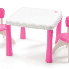 Step2 Table And Chairs With Umbrella Reclining Padded Beach Chair Footrest Lifestyle Kitchen Set Kids