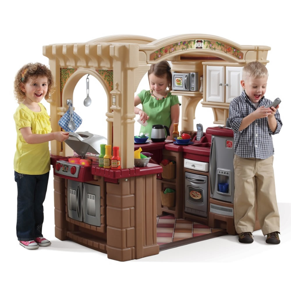 step 2 play kitchens skinny kitchen island grand walk in grill kids step2