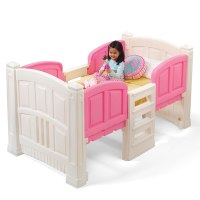 Girl's Loft & Storage Twin Bed | Kids Bed | Step2
