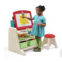 Flip & Doodle Easel Desk with Stool | Kids Art Desk | Step2