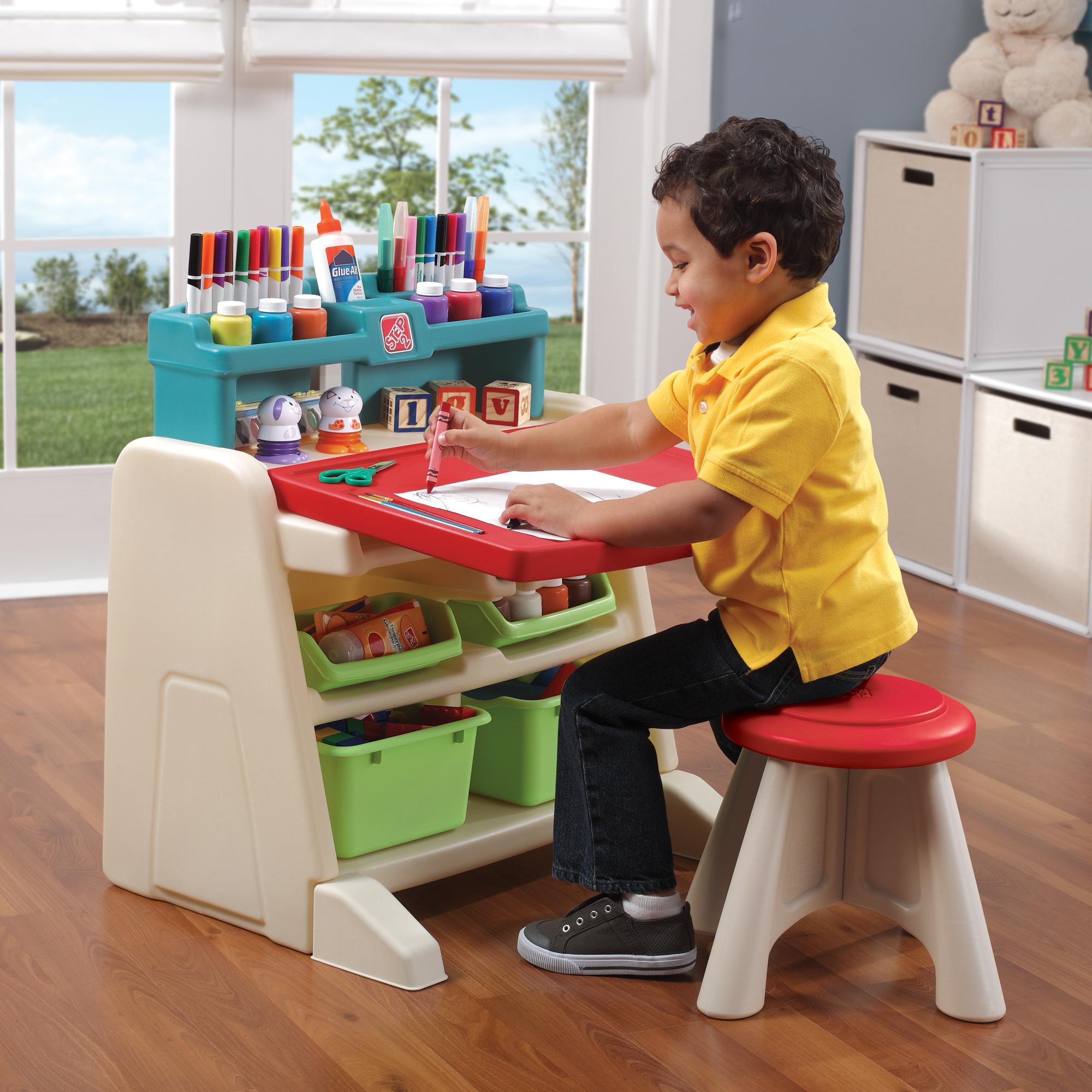 Flip Amp Doodle Easel Desk With Stool
