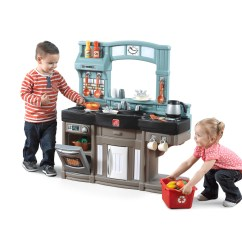 Step 2 Play Kitchens Round Drop Leaf Kitchen Table Best Chef S Kids Step2 Whip Up Some Fun With This