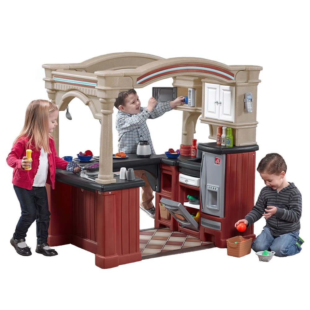 toy kitchens kitchen nook bench grand walk in kids play step2
