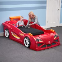 Hot Wheels Toddler-to-Twin Race Car Bed- Red | Kids Bed ...