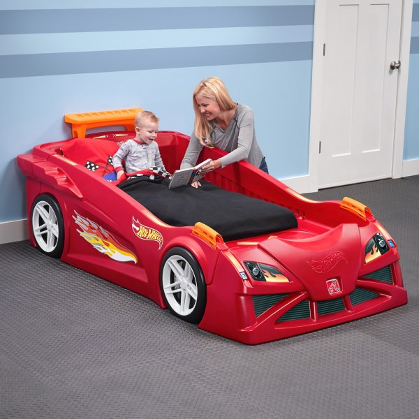 Hot Wheels Toddler-twin Race Car Bed- Red Kids Bed Step2
