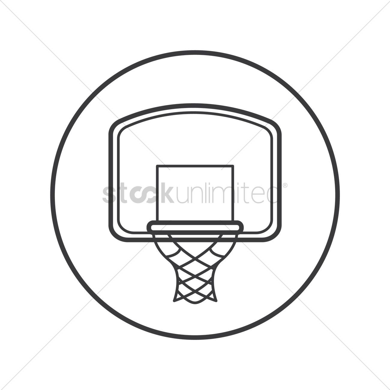 Free Basketball Hoop Vector Image