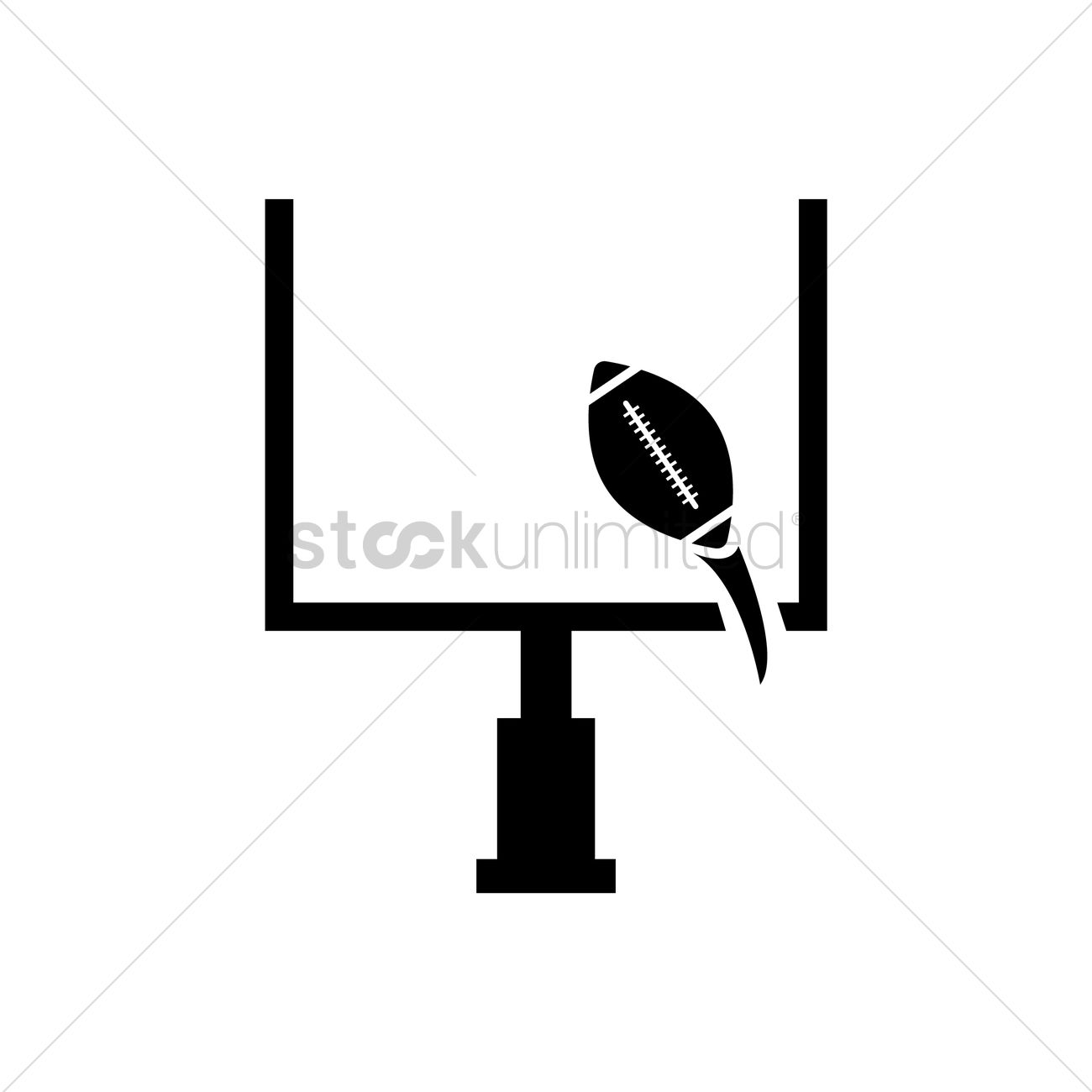 Football Goal Post Vector Image