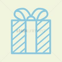 Gift box with ribbon Vector Image - 1351634   StockUnlimited