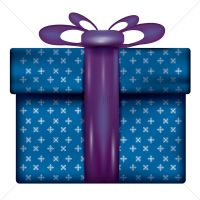 Gift box with ribbon Vector Image - 1935185   StockUnlimited