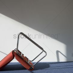 Chair Upside Down On Wall Gym Olx Upturned Office Casting Shadow Stock Photo