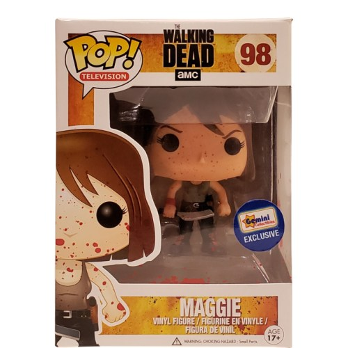 funko pop television the walking dead maggie rhee bloody gemini collectibles exclusive figure 98