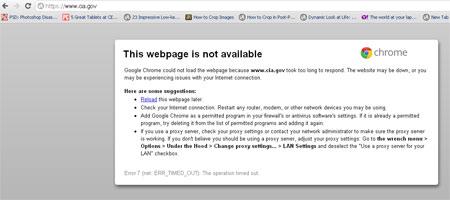 Hiện trang cia.gov vẫn chưa thể hồi phục.