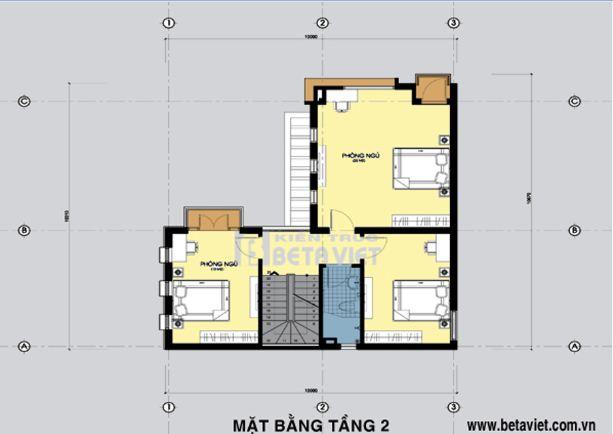 Tư vấn thiết kế biệt thự 3 tầng diện tích 74m2 - Archi