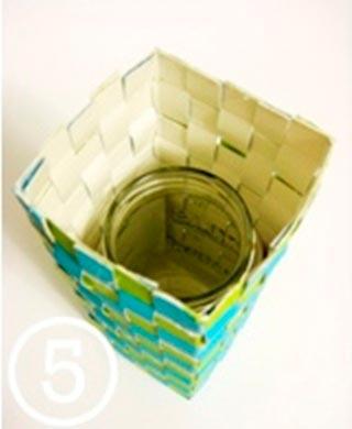 Tự làm bình hoa đẹp từ hộp sữa - Archi