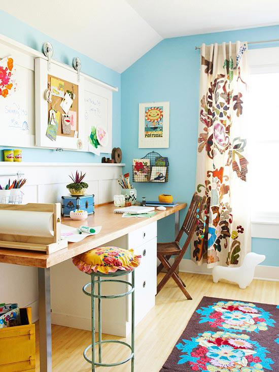 Bố trí phòng học đôi đẹp ấn tượng dành cho bé - Archi