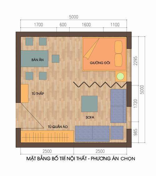 Bố trí căn hộ 25m2 hợp lý cho nhà 4 người - Archi