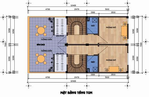 Xây nhà 87m2 thành 2 căn riêng biệt và có tầng 1 làm cửa hàng - Archi