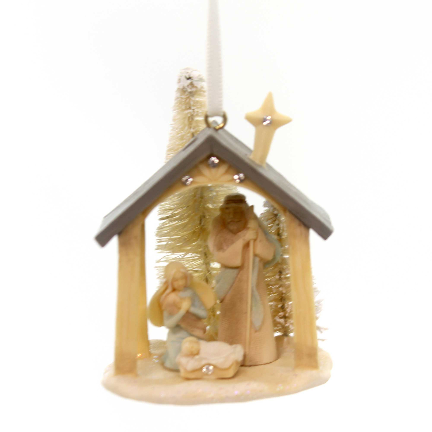 Foundations Nativity Hanging Ornament Polyresin Holy